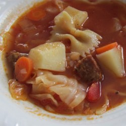 http://allrecipes.com/personalrecipe/63589054/italian-sausage-vegetable-soup/detail.aspx