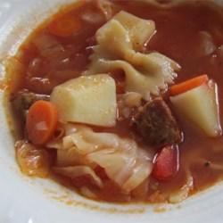 http://allrecipes.com/personalrecipe/63589054/italian-sausage-vegetable-soup/detail.aspx