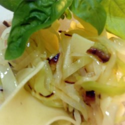 Butter Garlic Cabbage and Kluski Noodles