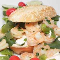 Saba's Shrimp Sandwiches