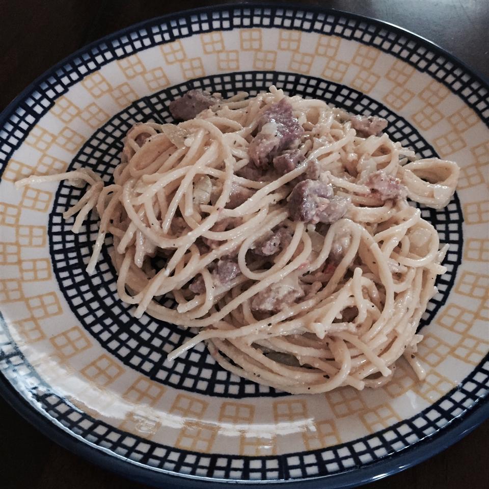 Italian Spaghetti with Ham Melissa Munoz