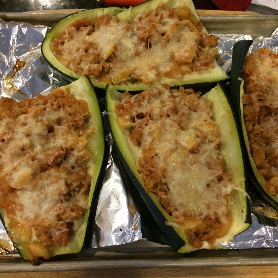 Stuffed Zucchini Boats with Meat Tracy Fisher