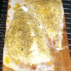 Trishie's Cedar Plank Cod Trishie