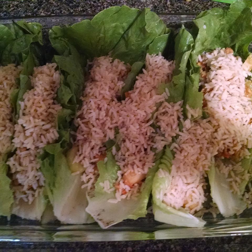 Asian Chicken and Rice Lettuce Wraps Lori Schreiner