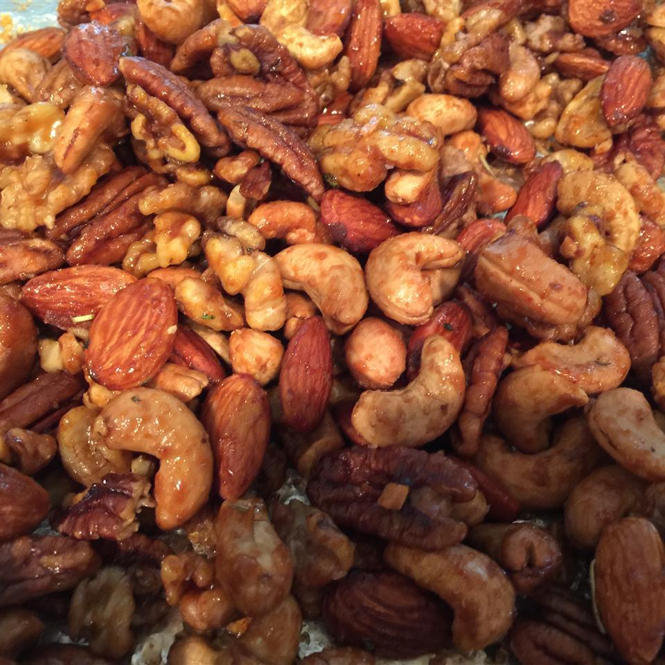 Rosemary and Brown Sugar Mixed Nuts