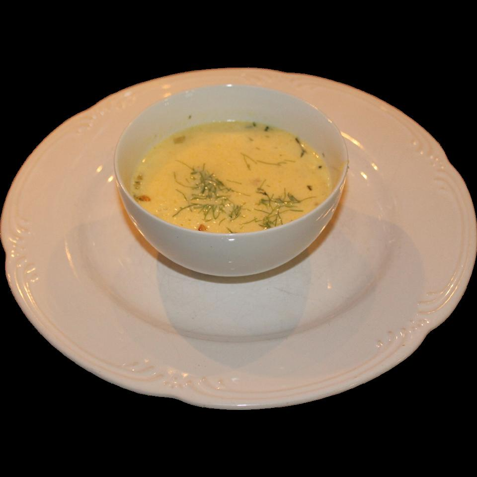 Golden Beet Soup with Goat Cheese