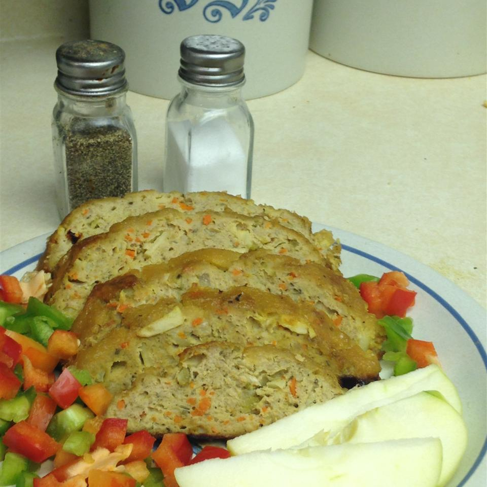 Tangy Apple Chicken Loaf mamaluvs2cook