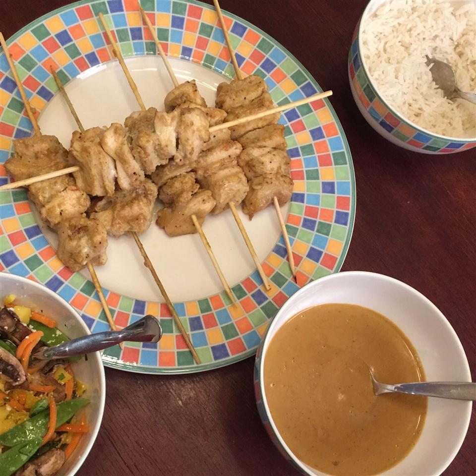 Easy Chicken Satay Raio De Luz