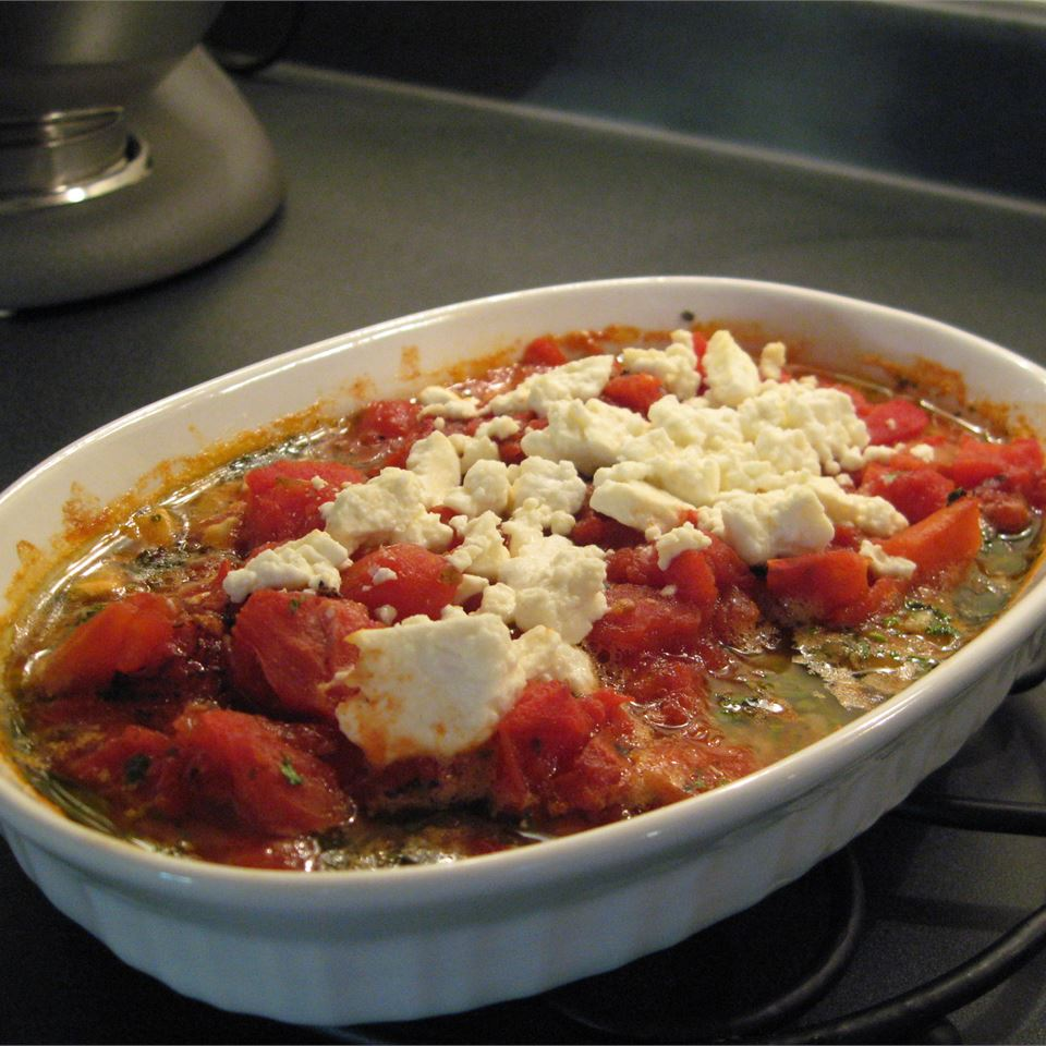Baked Shrimp with Feta and Tomato