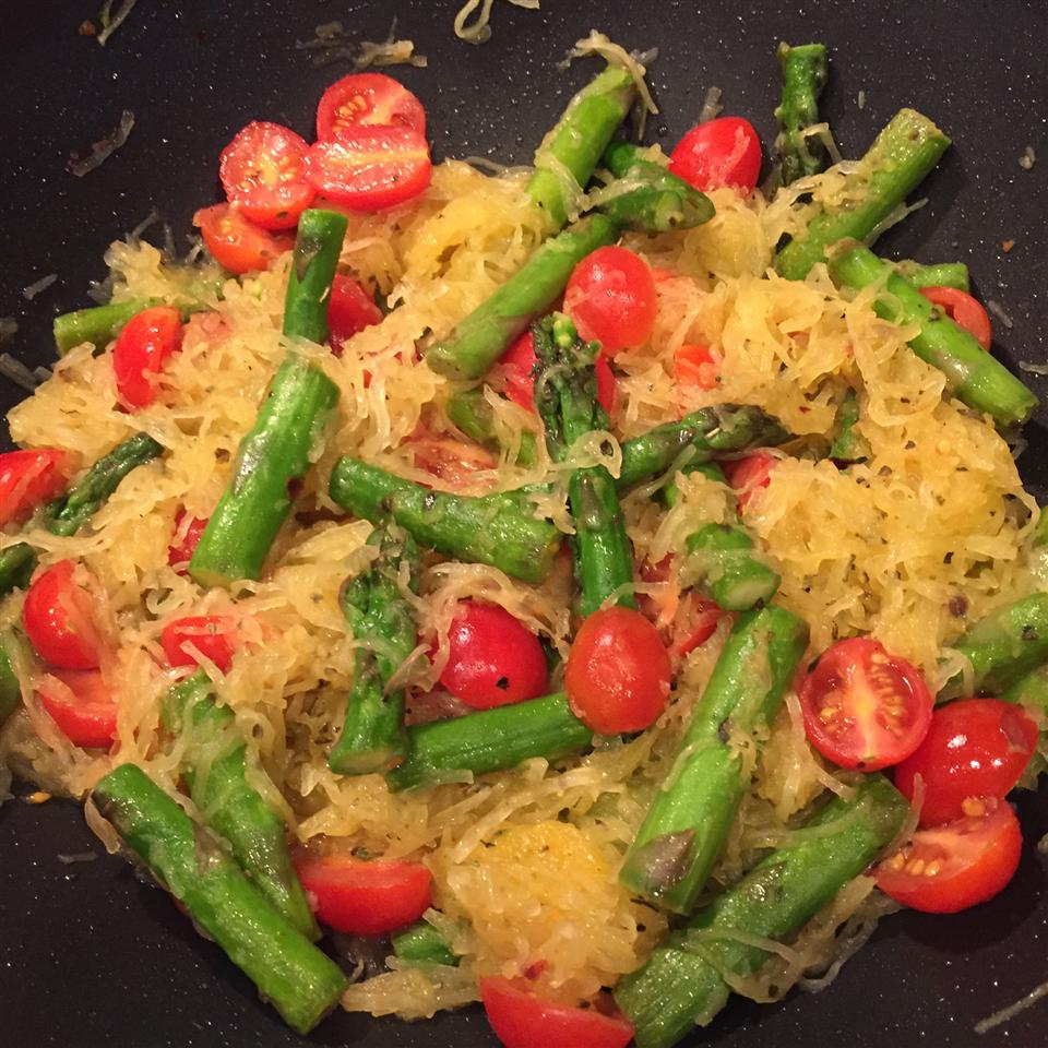 Spaghetti Squash with Asparagus