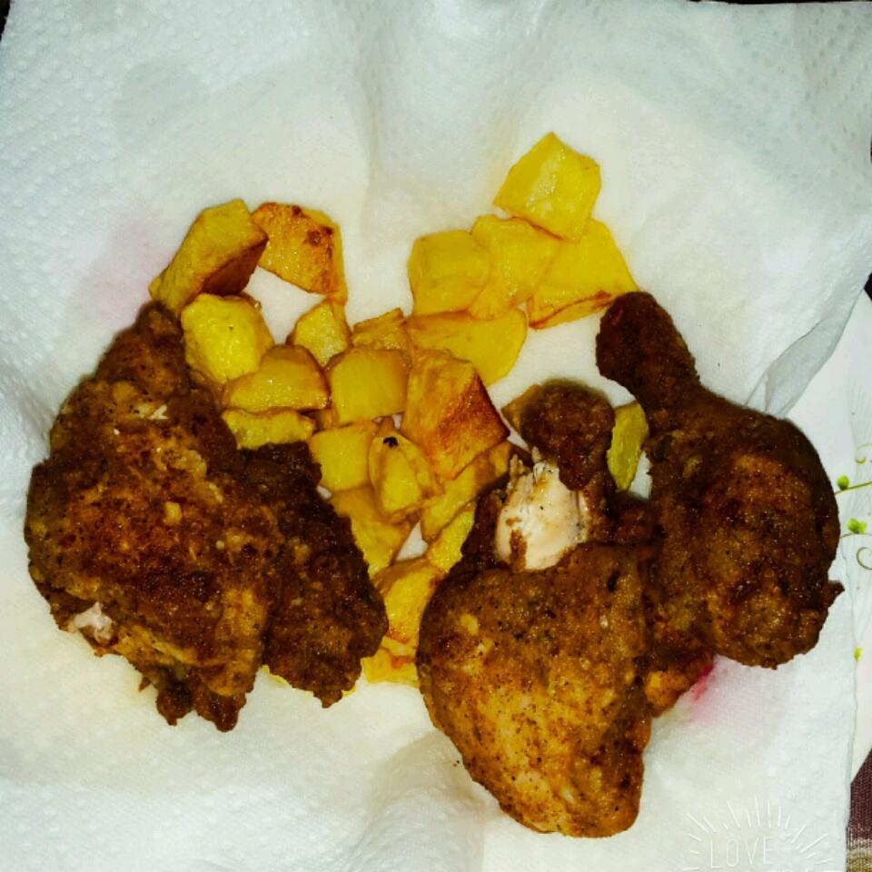Garlic Chicken Fried Chicken bee