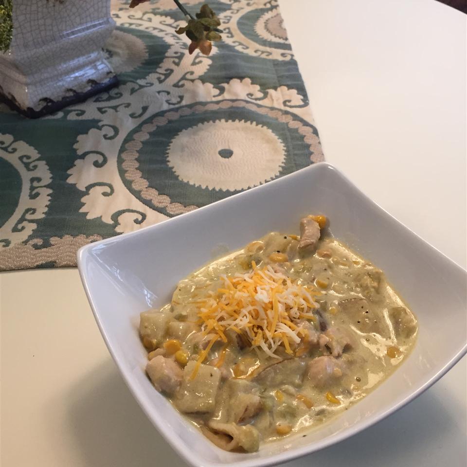 Papa Dar's Green Chile and Chicken Corn Chowder Jodi Layton