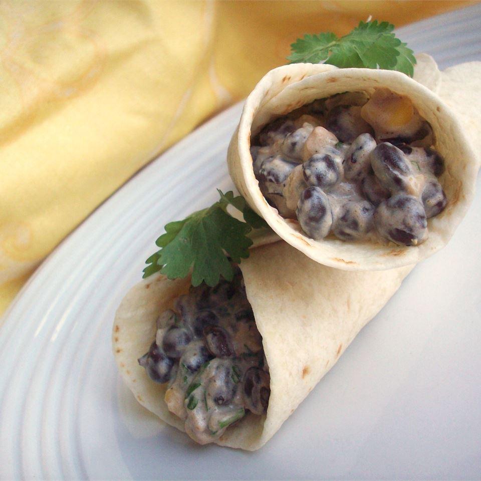Delicious Black Bean Burritos image