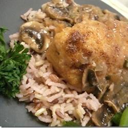 Port And Mushroom Sauce Chicken