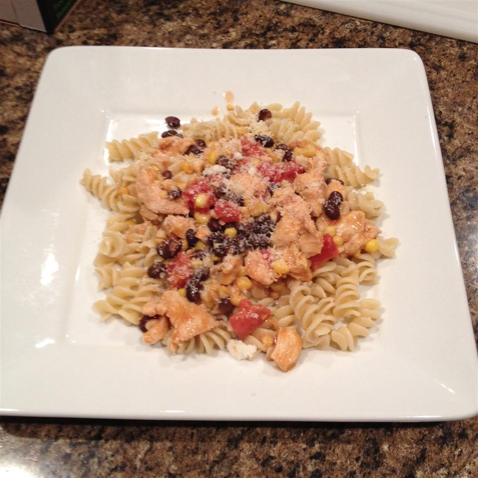 Black Bean and Corn Pasta with Chicken SHORN