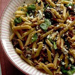 Quick Greek Pasta Salad with Steak Polo