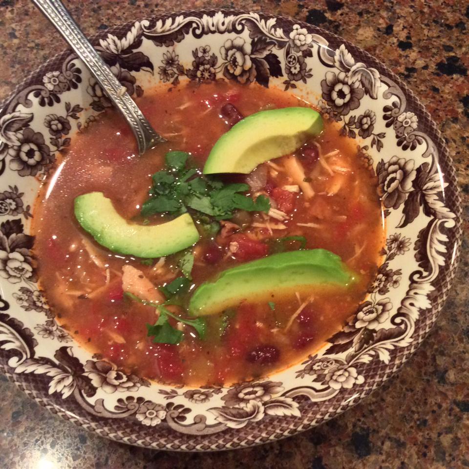 PAM's Spicy Slow Cooker Chicken Tortilla Soup DotDot