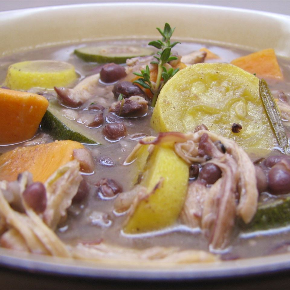 Chicken Soup with Adzuki Beans, Escarole, and Sweet Potato PARKER71