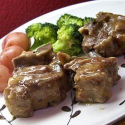 Lamb Shank Braised in White Wine with Rosemary