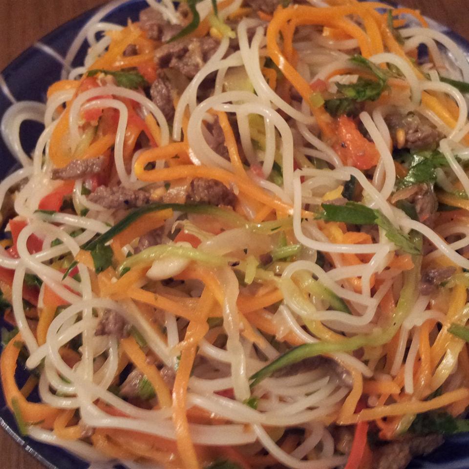 Spicy Rice Noodle Salad Nigora Bowles