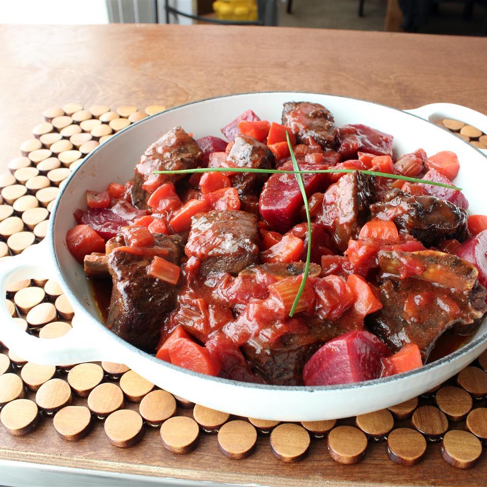 Borscht-Braised Beef Short Ribs