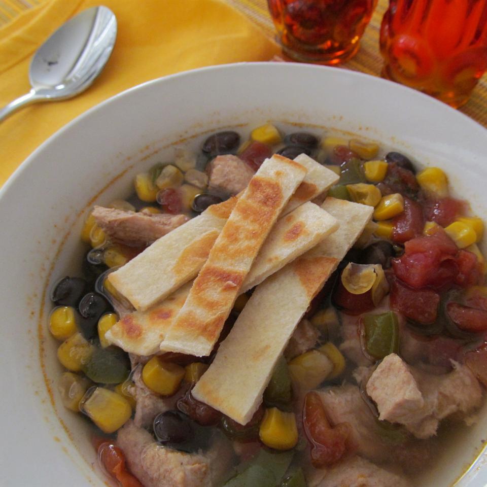 PAM's Spicy Slow Cooker Chicken Tortilla Soup Sugarplum