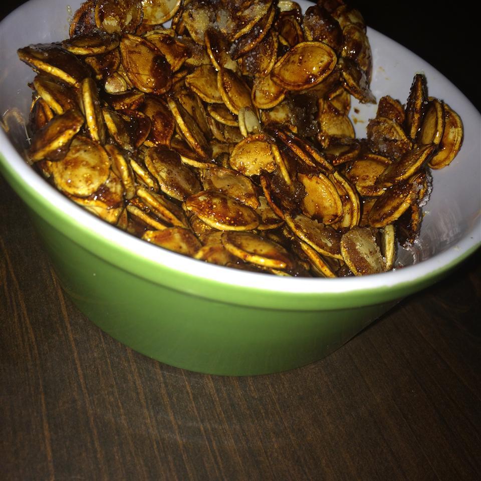 Sweet and Spicy Pumpkin Seeds Muffet Brown