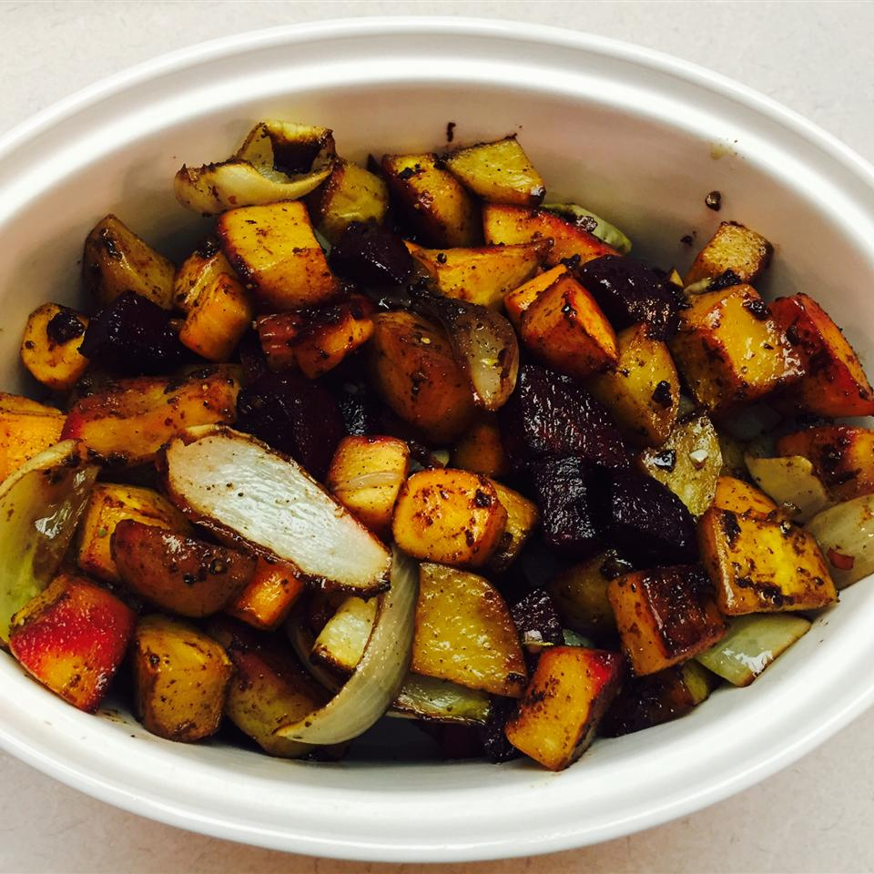 Roasted Pumpkin with Root Vegetables and Broccoli KSchirm13