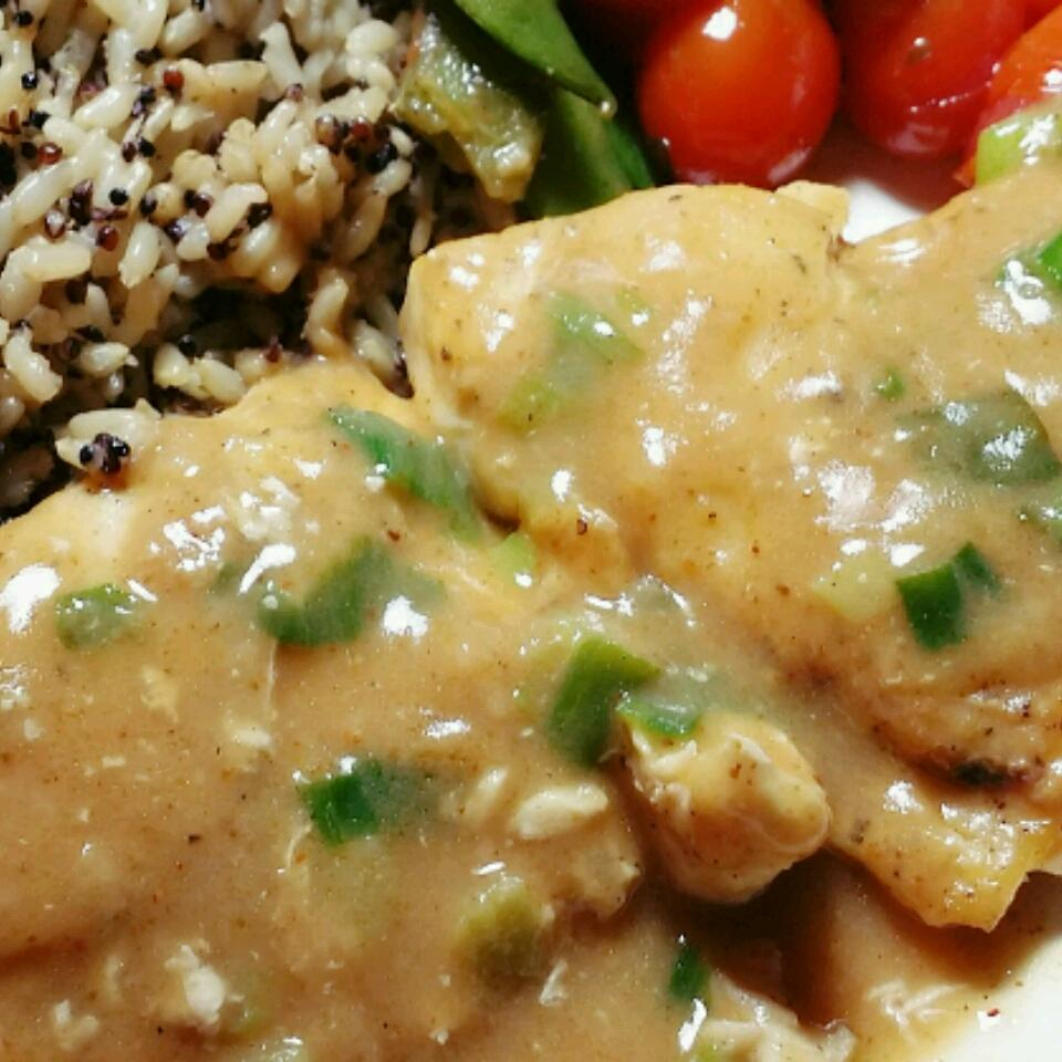 Chicken Breasts with Chipotle Green Onion Gravy Kammy Cheng
