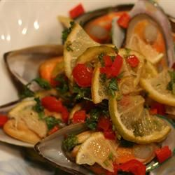 Grilled Mussels with Curry Butter Diana S.