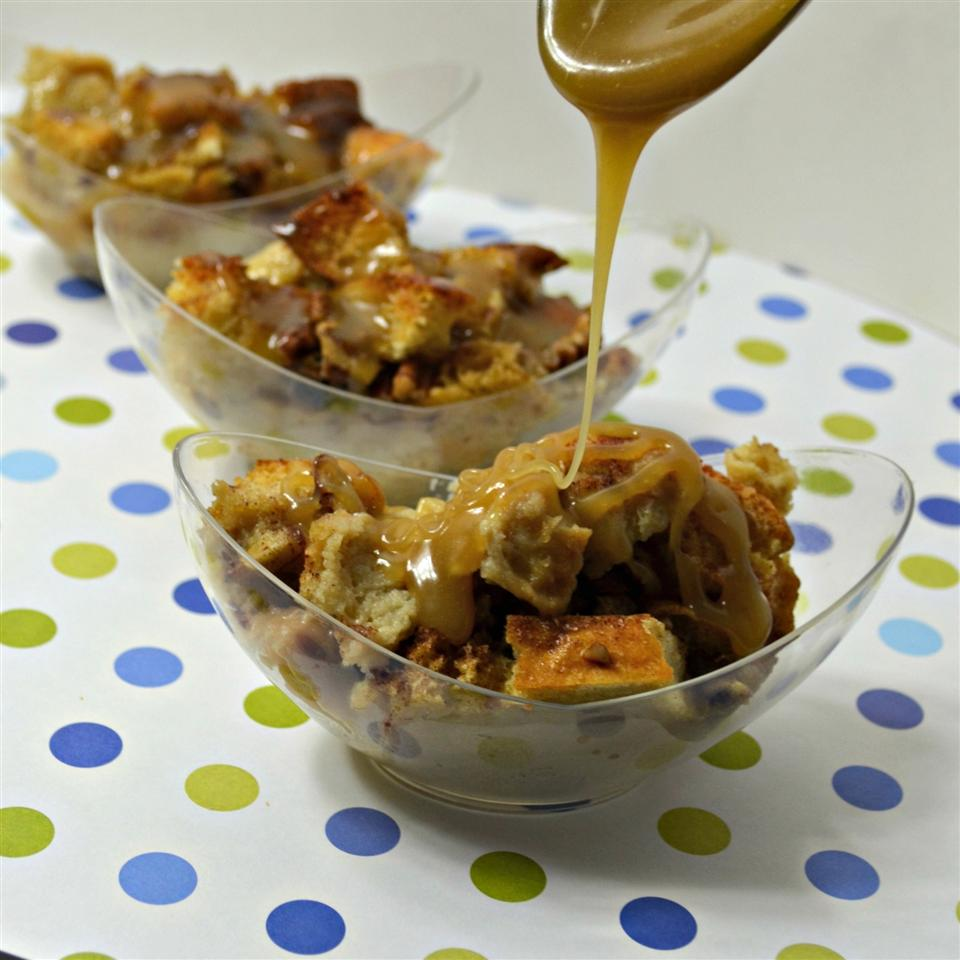 Coffee Liqueur Bread Pudding with Caramel Sauce - Printer Friendly