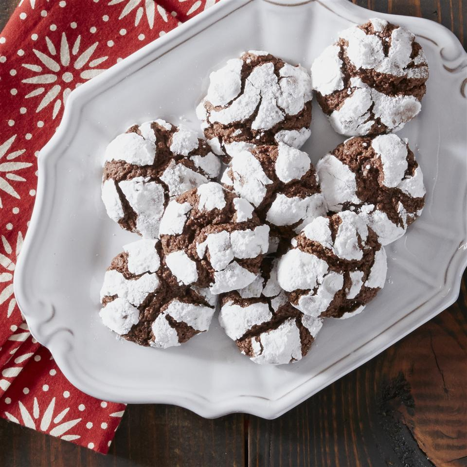 Chocolate Mint Crinkle Cookies from Reynolds® Parchment Paper image