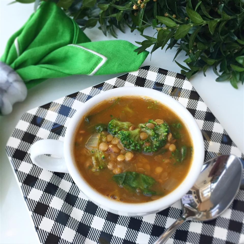 Easy Spinach Lentil Soup
