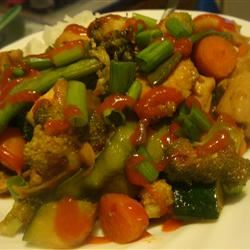 Sweet and Spicy Stir Fry with Chicken and Broccoli amandak23k