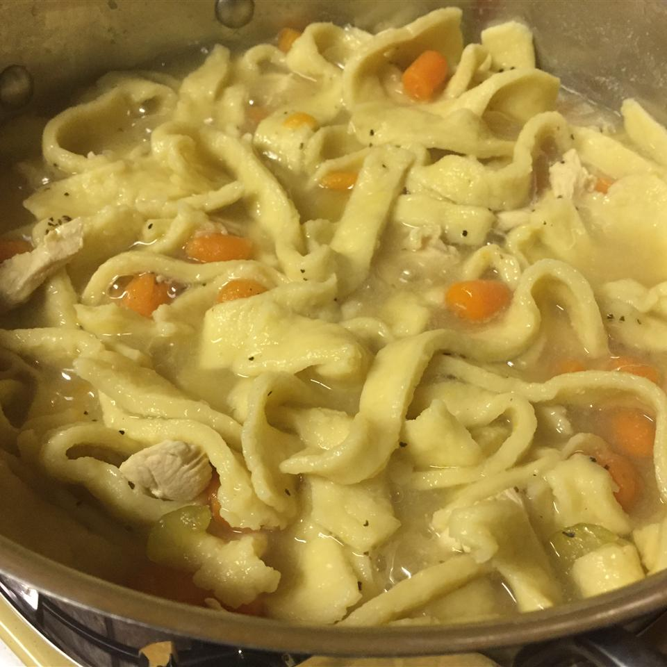 Grandma's Chicken Soup with Homemade Noodles Kelly Nagy Cramer