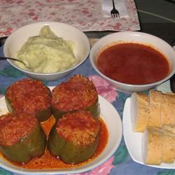 Saucy Stuffed Peppers