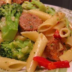 Broccoli and Sausage Cavatelli Cat Lady Cyndi