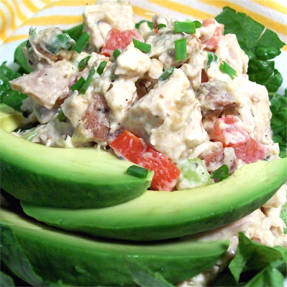 Chicken Salad with Bacon, Lettuce, and Tomato SunnyByrd