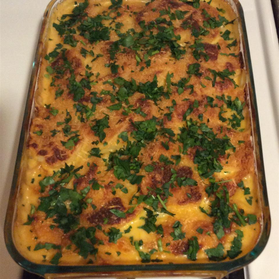 Parmesan-Crusted Au Gratin Potatoes and Onion