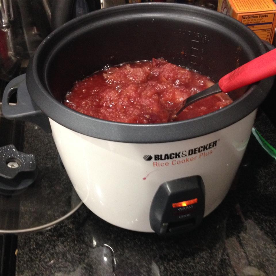 Rice Cooker Recipe: Raspberry Applesauce