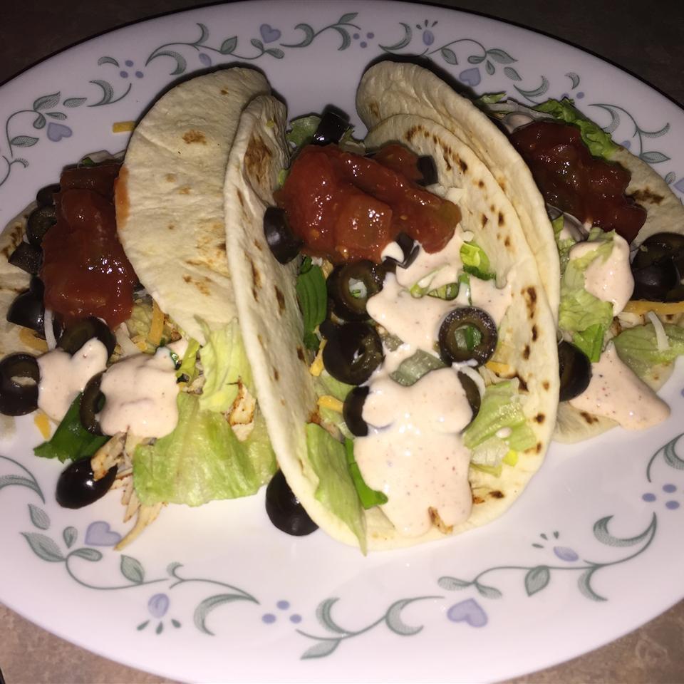 Ranch Chicken Tacos erica