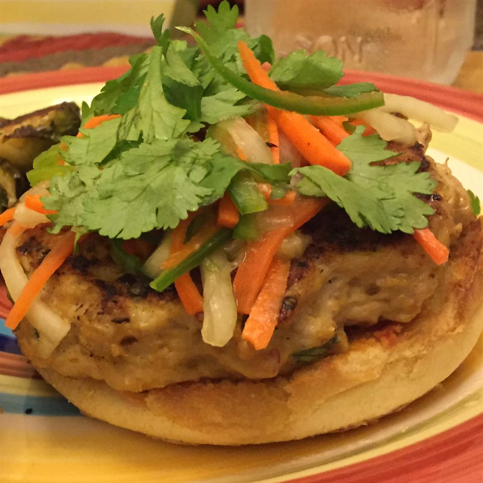 Chef John's Chicken Satay Burger Joseph Wiener
