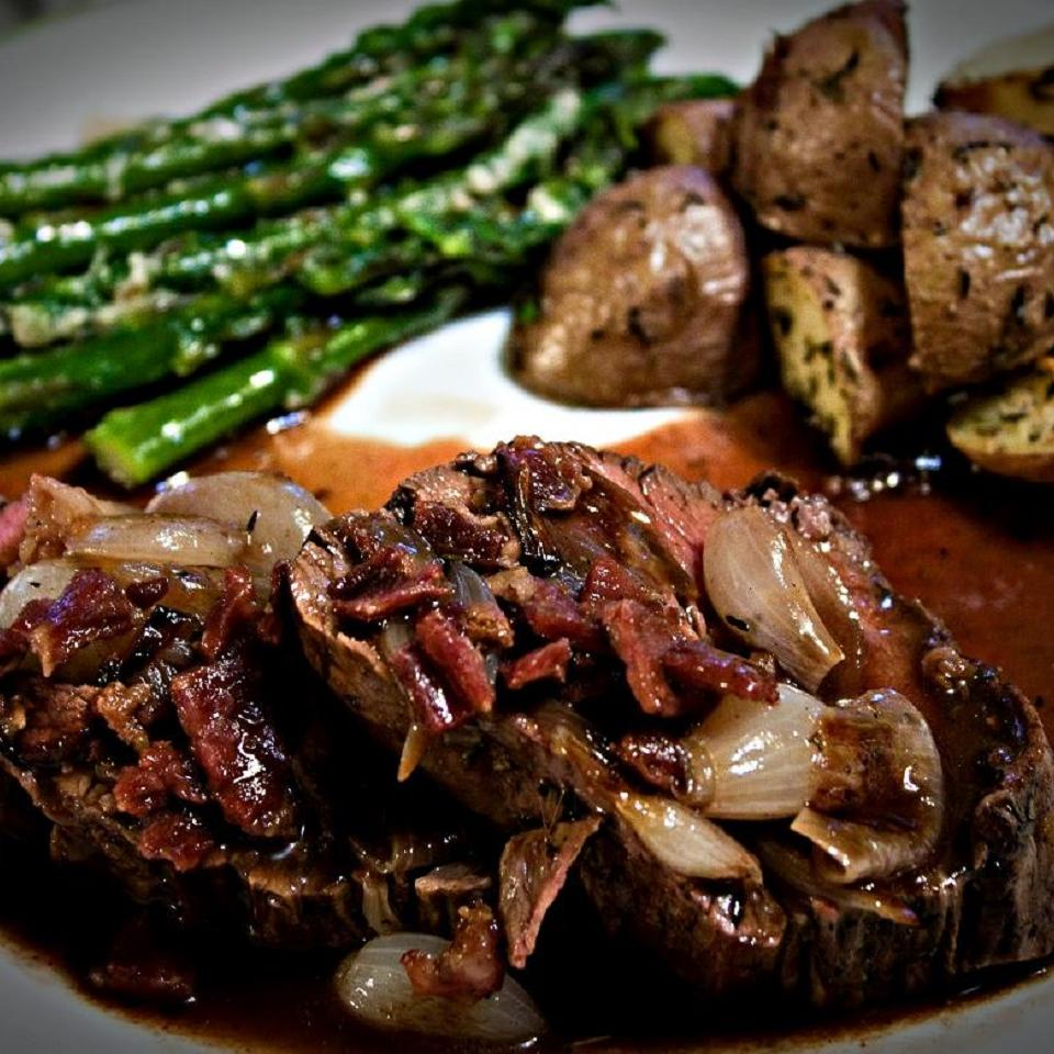 Beef Tenderloin With Roasted Shallots image