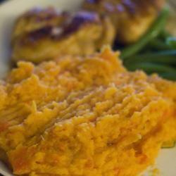 Carrot-Sweet Potato Mash PolkaDot