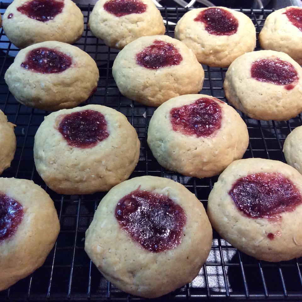 Coconut Raspberry Cookies