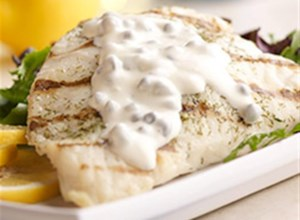 Grilled Mahi Mahi with Lemon Caper Sauce