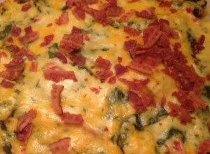 Spinach, Potatoes, and Bacon Au Gratin