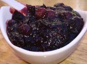 Cranberry Sauce with Raspberry Vinegar