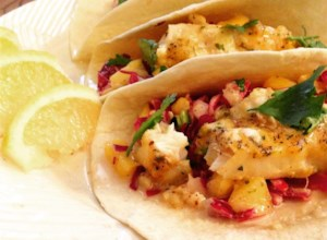 Easy Fish Tacos with Mango-Pineapple Slaw