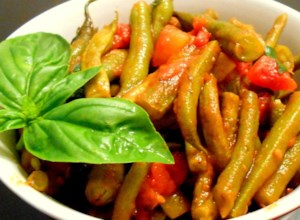 Aunt Kate's Green Beans in Tomatoes